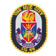 USS CG DDG Twisted Rope Military Patches - Hue