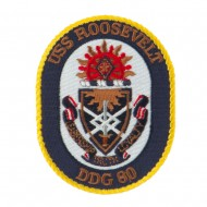 USS CG DDG Twisted Rope Military Patches - Roosevelt