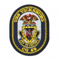USS CG DDG Twisted Rope Military Patches - Vicksburg