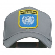 United Nations Flag Shield Patched Cap - Grey