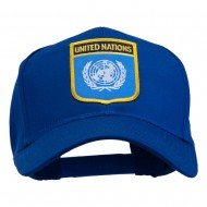 United Nations Flag Shield Patched Cap - Royal