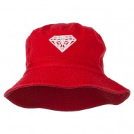 Diamond Jewelry Logo Embroidered Bucket Hat - Red