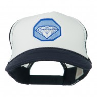 Diamond Jewelry Embroidered Foam Mesh Back Cap - Navy White