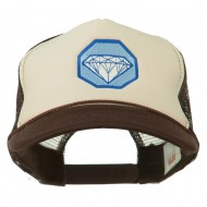 Diamond Jewelry Embroidered Foam Mesh Back Cap - Brown Tan