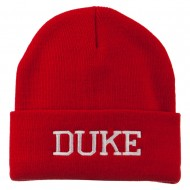 Halloween Character Duke Embroidered Beanie - Red
