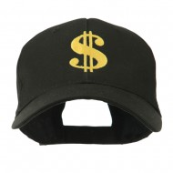 Dollar Sign Logo Embroidered Cap - Black