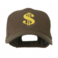 Dollar Sign Logo Embroidered Cap - Brown