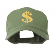 Dollar Sign Logo Embroidered Cap - Olive
