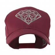 Diamond Outline Embroidered Cap - Maroon