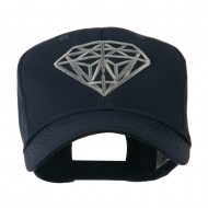 Diamond Outline Embroidered Cap - Navy