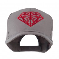 Diamond Outline Embroidered Cap - Grey