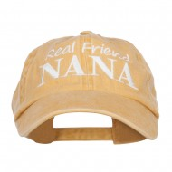 Real Friend Nana Embroidered Washed Cap - Mango