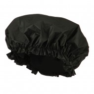 Double Sided Shower Cap - Black