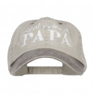 Real Friend Papa Embroidered Washed Cap - Beige Brown