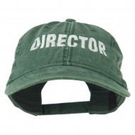 Director Embroidered Washed Cotton Cap - Dark Green