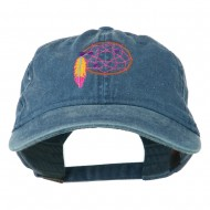 Dream Catcher Embroidered Washed Cap - Navy