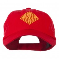 Diamond Swirl Emblem Embroidered Cap - Red