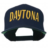 Daytona Embroidered Flat Bill Cap - Navy