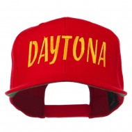 Daytona Embroidered Flat Bill Cap - Red