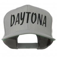 Daytona Embroidered Flat Bill Cap - Silver