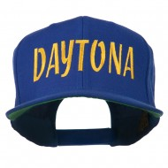 Daytona Embroidered Flat Bill Cap - Royal