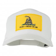 Don't Tread On Me Patched Cap - White