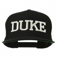Halloween Character Duke Embroidered Snapback Cap - Black
