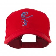 Men's Basketball Dunk Shot Embroidered Cap - Red
