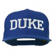 Halloween Character Duke Embroidered Snapback Cap - Royal