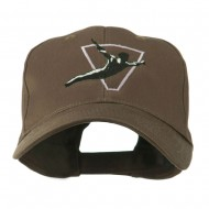 Diving Man Logo Embroidered Cap - Brown