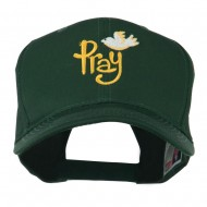 Wording of Pray with Dove Embroidered Cap - Green