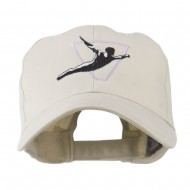 Diving Man Logo Embroidered Cap - Stone