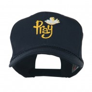 Wording of Pray with Dove Embroidered Cap - Navy