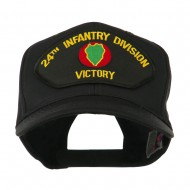 US Army Division Military Large Patched Cap - 24th Infantry