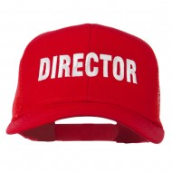 Director Embroidered Mesh Back Cap - Red