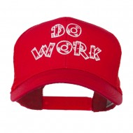 Do Work Embroidered Mesh Back Cap - Red