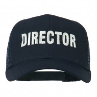 Director Embroidered Mesh Back Cap - Navy