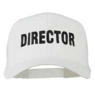 Director Embroidered Mesh Back Cap - White
