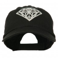Diamond Jewelry Logo Embroidered Low Profile Washed Cap - Black