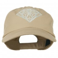 Diamond Jewelry Logo Embroidered Low Profile Washed Cap - Khaki