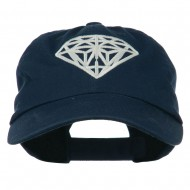 Diamond Jewelry Logo Embroidered Low Profile Washed Cap - Navy