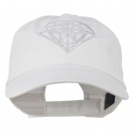 Diamond Jewelry Logo Embroidered Low Profile Washed Cap - White