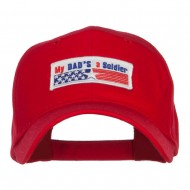 My Dad's a Soldier Patched Cotton Cap - Red