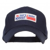 My Dad's a Soldier Patched Cotton Cap - Navy