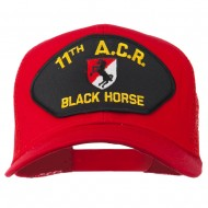 11th ACR Black Horse Patched Mesh Cap - Red