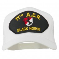 11th ACR Black Horse Patched Mesh Cap - White