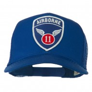 11th Airborne Military Patched Mesh Cap - Royal
