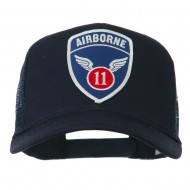 11th Airborne Military Patched Mesh Cap - Navy