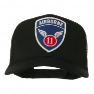 11th Airborne Military Patched Mesh Cap - Black