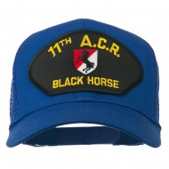 11th ACR Black Horse Patched Mesh Cap - Royal
